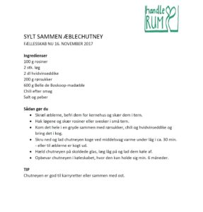 Opskrift på æblechutney