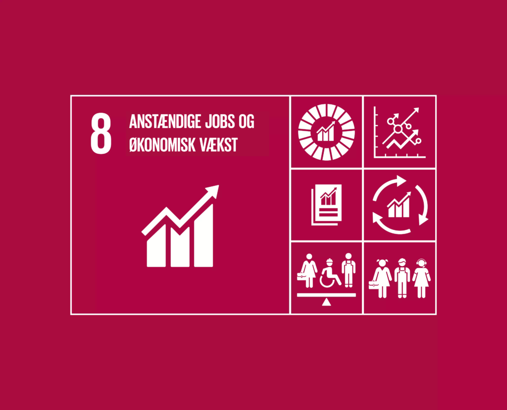 Verdenmål 8: Anstændige jobs og økonomisk vækst.